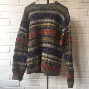 J Crew Southwest Style Sweater w/ Red & Blue Sz XL